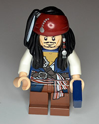 Lego Pirates of the Carribean Jack Sparrow Figure