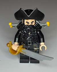 Lego Pirates of the Carribean Blackbeard Figure