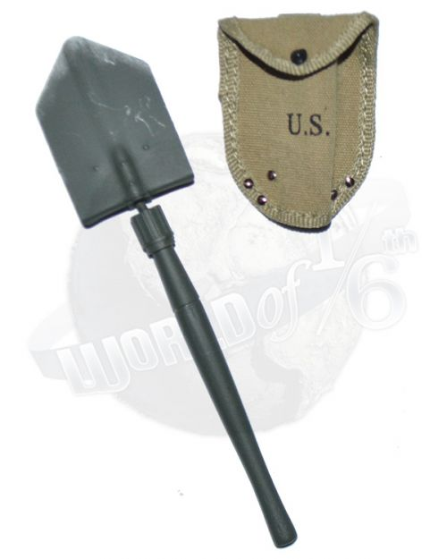 DiD Toys WWII US 2nd Ranger Battalion Captain Miller: FoDiD WWII US 2nd Ranger Battalion Captain Miller: M1943 Entrenching Tool (Long Handle) With Carrier Cover Pouch