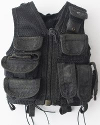 Art Figures FBI Biochemical Weapons Expert: Tactical Omega Vest With Built-In Pouches (Black)