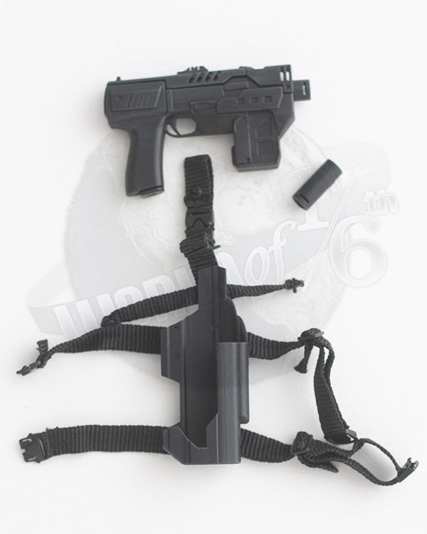 Art Figures Heavy Armored Special Cop: Machine Pistol With Holster & Snub Nosed Barrell Replacement (Black)