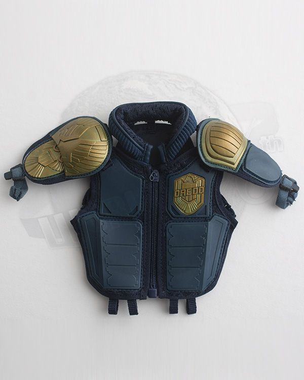 Art Figures Heavy Armored Special Cop Special Edition Blue: Bulletproof Vest With Accents & Name Plate & Shoulder Pads (Blue)