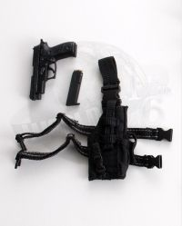 Art Figures Soldiers Of Fortune 4: Sig Sauer P226 Handgun With Extra Clip & Omega VI Tactical Holster (Black)
