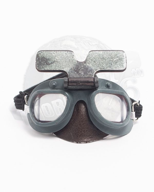 Alert Line WWII Royal Air Force Fighter Pilot: RAF Mk.VII Flying Goggles With Blast Shield