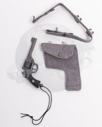 Alert Line WWII Royal Air Force Fighter Pilot: RAF Working Dress Belt With Revolver & Holster (Tan)
