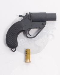 Alert Line WWII Royal Air Force Fighter Pilot: Signal Flare Gun With One Round