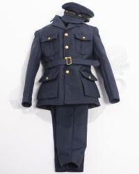 Alert Line WWII Royal Air Force Fighter Pilot: RAF Uniform Blazer & Trousers With Visor Cap (Blue)
