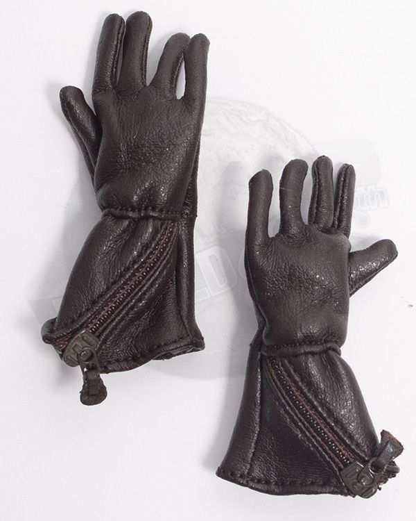 Alert Line WWII Royal Air Force Fighter Pilot: RAF 1933 Pattern Flying Gauntlet Gloves (Brown)