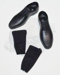 ADD Toys War Wolves (Suit Version): Dress Shoes With Sock Inserts (Peg Insert Style) (Black)
