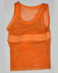 Craft One Fighter: Orange Fishnet Tank Top