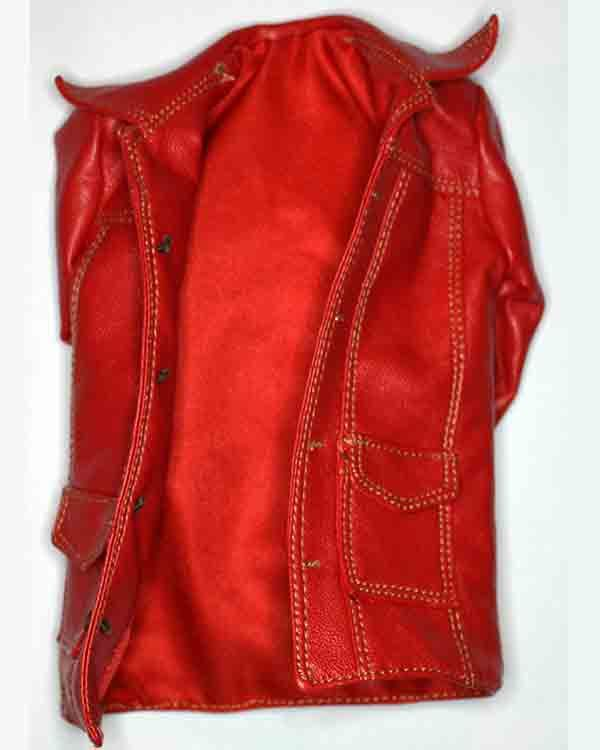 Craft One Fighter: Red Leather Jacket
