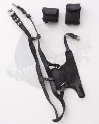 Flagset Eat Chicken Series Doomsday Survivors: Leatherlike Harness With 2 Canvas Pouches