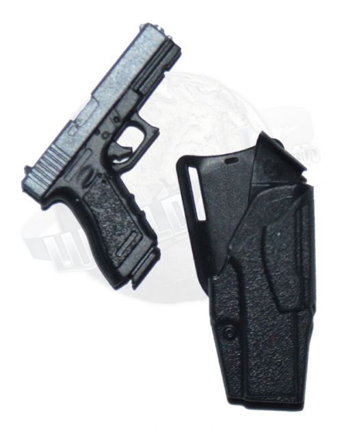 Flagset Toys Modern Battlefield End War A: Glock Pistol With Tactical Holster (Black)