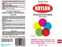 Krylon Label For Spray Paint Can
