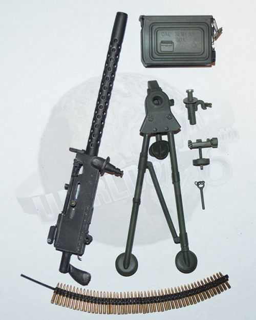 Soldier Story Henry Kano: 30 Cal Machine Gun With Collapsable Tripod, 30 Cal Ammunition Links & Can (Metal)