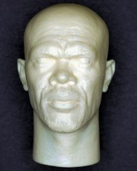Samuel Jackson Resin Cast Head Sculpt (Unpainted)