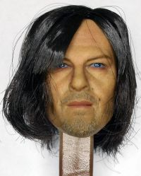 The Walking Dead Darryl Headsculpt With Rooted Hair