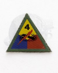 WWII US Army 4th Armored Tank Division Patch