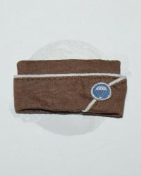 DiD Toys WWII US Army Airborne Garrison Cap With Airborne Patch & 1st  Lieutenant Bar (Brown)