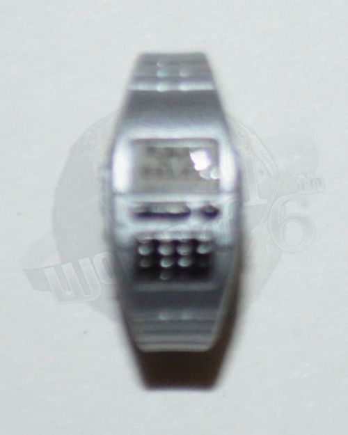 Modern Digital Watch With Keypad (Silver)