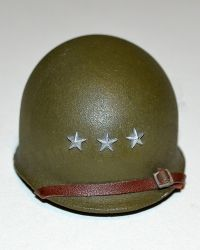DiD Toys WWII US Army M1 Helmet With 3 Stars (Metal)