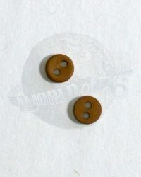 Unknown Manufacturer Two 1/6 Scale Medium Sized Buttons (Khaki)