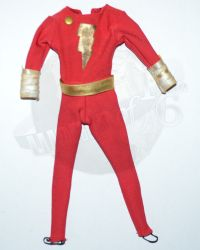 "Rare & Hard To FindDC Direct Captain Marvel ""Shazam"" Body Suit, Belt & Cape Outfit Set"