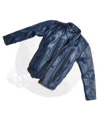 Wolf King Dr. Chemical Poisoning Partner (Jesse): Leather Jacket (Dark Blue)