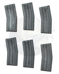Rare & Hard To Find  M4 Magazines x 6 (Medium Grey)