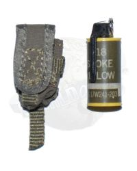 Very Hot Toys: M18 Smoke Grenade (Yellow) With Molle Pouch (OD)