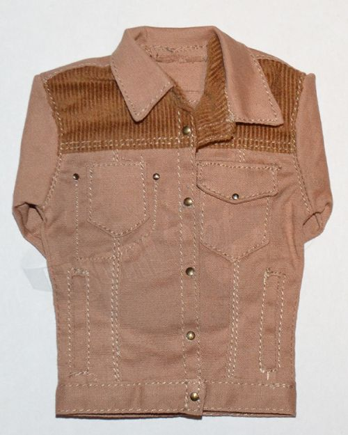 Unknown Manufacturer Long Sleeved Jacket With Corduroy Shoulders (Tan)