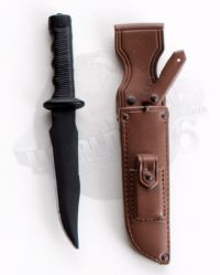 Fixed Blade Knife With Sheath (Brown)