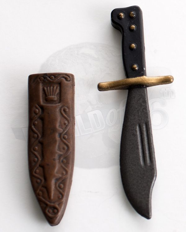 WWII US Airborne Knife & Sheath (Brown)