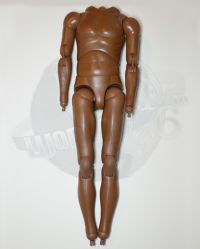 Hot Toys Slim Brown Skinned Figurebody With Foot & Hand Pegs (No Head, Hands or Feet)