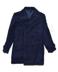 Wool Pea Coat (Navy Blue)