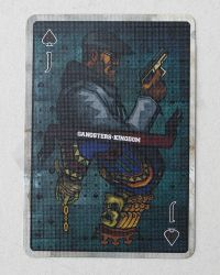 Dam Toys Spade J Gangsters Kingdom: Playing Card (Variant)