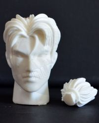 Dragon Models Ltd. Asian Head Sculpt With Pony Tail (Unpainted)