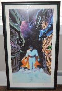Alex Ross Signed Space Ghost Print With Certificate of Authenticity