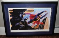 Alex Ross Superman and Batman: World's Finest Limited Edition Print With Certificate of Authenticity