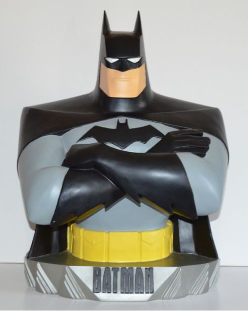 "1997 Batman Animated statue bust 18"" (Warner Brothers Studio Store)"