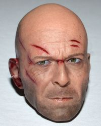 Brother Production Present Live Free Johnny: Battle Damage Headsculpt (Bruce Willis Likeness)