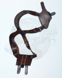 Brother Production Present Live Free Johnny: Worn Shoulder Holster With Pistol (Brown)