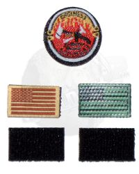 DamToys Operation Red Wings Navy SEALS SDV Team 1 Leader: Patch Set (Desert Camouflagued US Flag, IR US Flag & Firefighters)