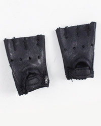 Virtual Toys Dark Soldier: Fingerless Tactical Leather Gloves