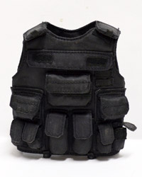 Virtual Toys Dark Soldier: Black Tactical Vest