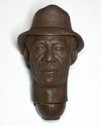 Custom Detective Sommerset With Hat Headsculpt (Brown Resin, Unpainted)