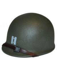 FacePool US Ranger Captain Miller France 1944: M1 Helmet With 2nd Rangers Insignia (Metal)