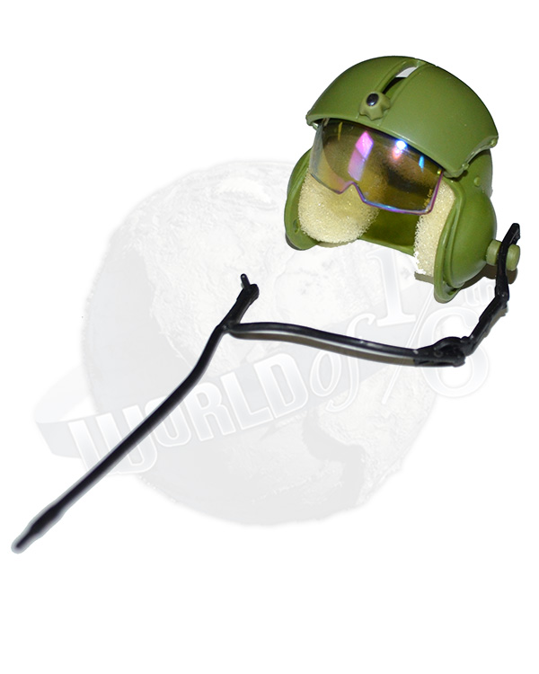 GI Jane Helicopter Pilot: Pilot's Helmet With Retractable Face Shield