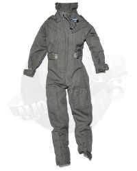 GI Jane Helicopter Pilot: One Piece Flight Suit (Gray)