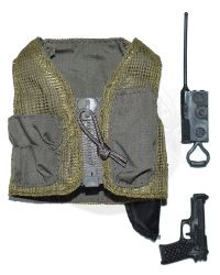 GI Jane Helicopter Pilot: Pilot's Vest With Radio & Pistol